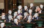 parlamentari polonia ,protest ACTA ,anonymous