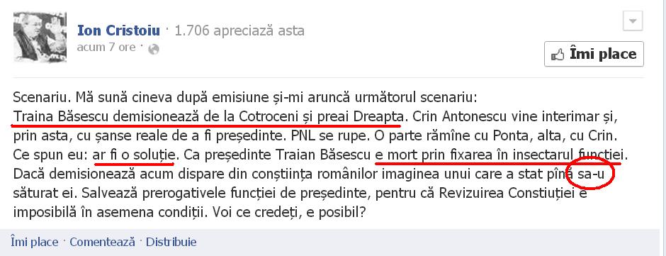 Lista neagra a lui Ponta. Patru ziaristi pe care premierul i-ar vrea afara din presa Cristoiu-facebook-1