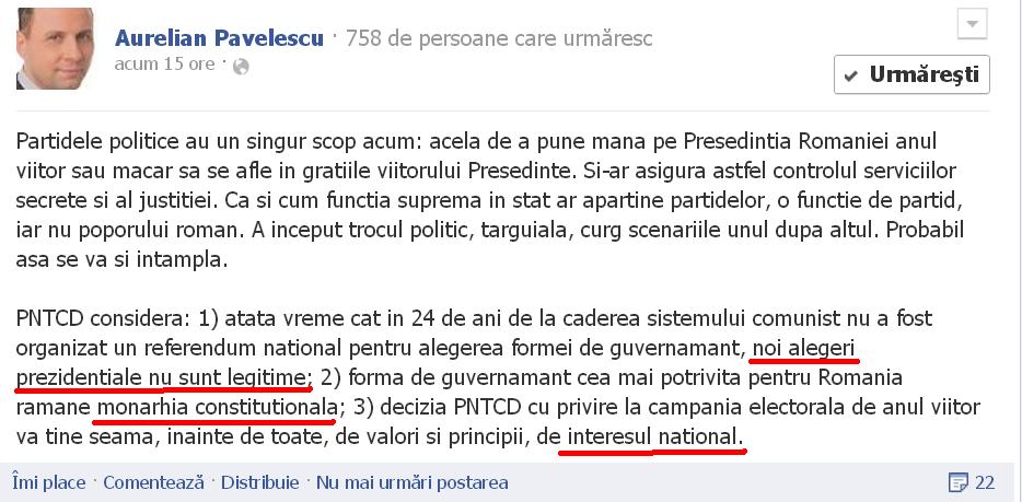 Pavelescu -DIN STANA OILOR IN TARCUL BOILOR : A IESIT la inaintare ALA MIC ,CU CAPUL MARE Pavelescu-vlaston-pntcd-noua-republica-lideri-prostie-monarhie-1