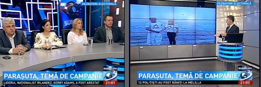 Paraşuta temă de campanie electorală, politica , subiectiv  ,razvan dumitrescu , campanie electorala , europarlamentare  ,elena udrea,  parasuta
