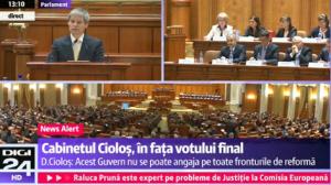 ciolos vot parlament
